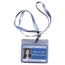 name tags for reunions purple lanyard standard class reunion name tag holder with