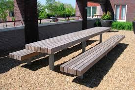 modern outdoor table bench moderni