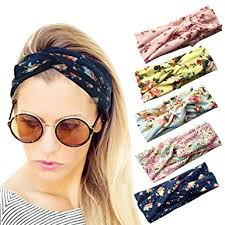 elastic headbands loritta 5 pcs women s headbands elastic boho printed turban