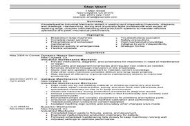 sample resume for maintenance maintenance sample resume