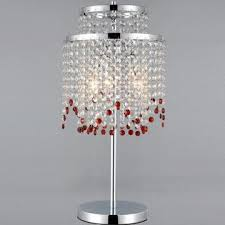 Crystal Chandelier Table Lamp New Modern Red K9 Crystal Chandelier Table Lamps Made Of Iron And