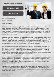 civil engineer cover letter example example cover letter