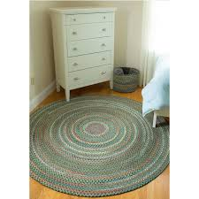 Overstock Rugs Outdoor Charisma Indoor Outdoor 6 Foot Round Braided Rug By Rhody Rug