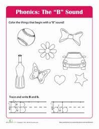 letter b sound worksheet education com