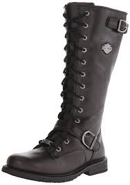 motorcycle black boots amazon com harley davidson women u0027s jill boot knee high