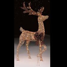 Christmas Decorations Light Up Deer by Lighted Christmas Deer Ebay