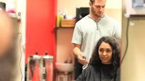 haircut net woman at the hair salon getting a haircut stock footage video