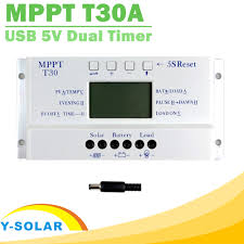 new mppt t30 solar controller lcd display ce certificated light