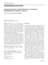 chemical treatments of natural fiber for use in natural fiber