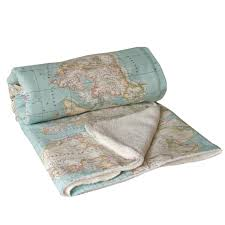 World Map Bedding World Map Blanket Map Blanket Blue Blanket Baby Map