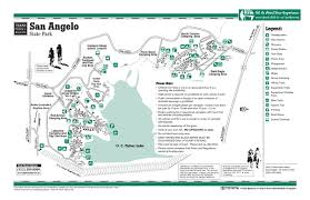 map of san angelo san angelo state park facility and trail map san angelo