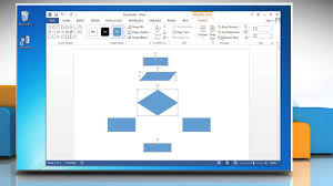 cara membuat gambar 3d di microsoft word make a flowchart in microsoft word 2013 youtube