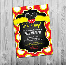 mickey mouse baby shower invitations best 25 mickey baby showers ideas on mickey mouse