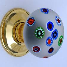 Decorative Door Knobs Extremely Beautiful Millefiori Solid Glass