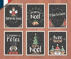 joyeux noel christmas cards joyeux noel christmas card set vector