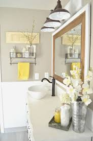 beautiful yellow and gray bathroom decor bathroom ideas