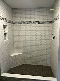 Subway Tile Shower Walls Octagon by Daltile Florentine Fl06 Carrara 10x14 With Glass Accent Daltile