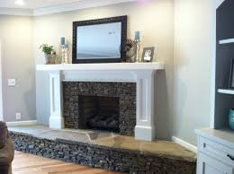 brick wall and fireplace covered with sheetrock and stone my