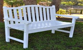 white wooden benches white plastic outdoor glider bench awesome