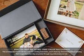 Photo Album For 5x7 Prints Custom Keepsake Print U0026 Usb Drive Presentation Boxes For