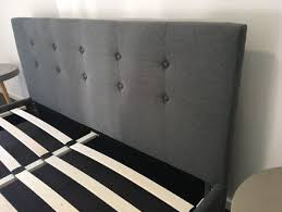 brandnew modern stylish fabric queen grey bed frame from aldi