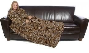 sur canapé slanket safari sur canapé la couverture à manches à motif