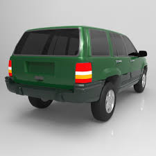 jeep grand cherokee green jeep grand cherokee 94 for wavefront obj 3d models
