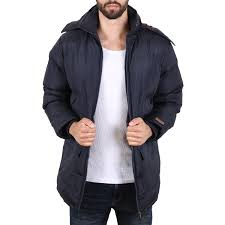 shine mens padded coat men winter jacket navy at hoodboyz