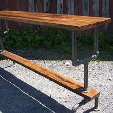 bar height table industrial custom made industrial styled bar height table with a metal pipe