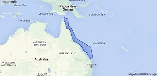 Map Of Coral Reefs The Great Barrier Reef Location Is In Queensland In The North