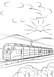 intercity speed train coloring free printable coloring