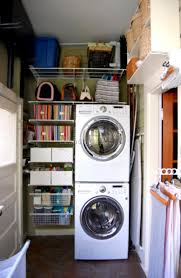 Laundry Room Storage Between Washer And Dryer by Stackable Washer And Dryer Laundry Room Ideas 9 Best Laundry