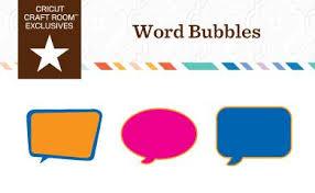 Cricut Craft Room - cricut craft room exclusives word bubbles cricut shop clip