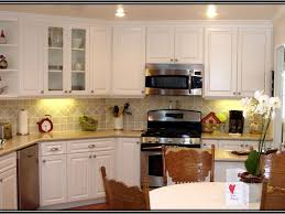 Refinish Kitchen Cabinets Before And After Kitchen Cabinets Kitchen Cabinet Refacing Before And After In