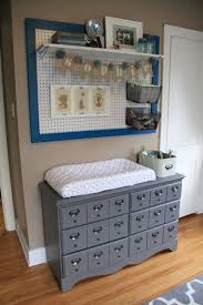 diy card catalogue changing table and framed peg board my husband