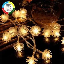 christmas tree flower lights coversage 2m 20 leds fairy battery garland flower string lights