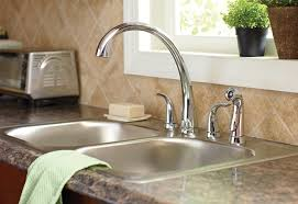 kitchen sink faucet home depot how to install a two handle kitchen faucet at the home depot