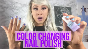 mood color changing nail polish color club nail polish youtube