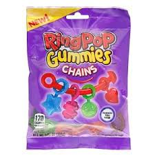 edible candy jewelry ring pop gummy chains peg bag edible jewelry gummy charm
