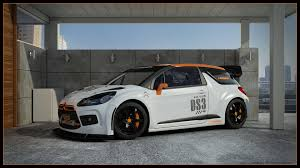 citroen sports car citroen ds3 racing carport by dangeruss on deviantart