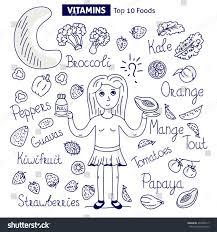 food vector vitamin c food vector set stock vector 494398117 shutterstock