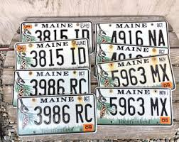 Maine State Vanity Plates License Plate Craft Etsy