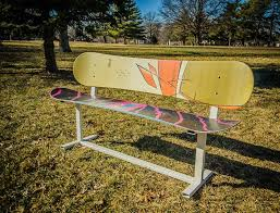 Old Park Benches Hand Crafted Custom Built Modern Style Snowboard Bench By Against
