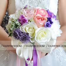 wedding flowers cheap wf050pp pink purple wedding bouquet 2016 boho silk flowers