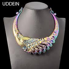 vintage necklace design images Uddein vintage statement choker necklace women color drop oil jpg