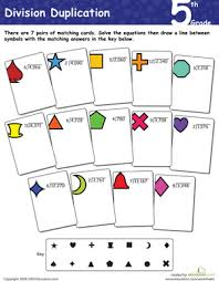 division duplication 5th grade worksheet education com