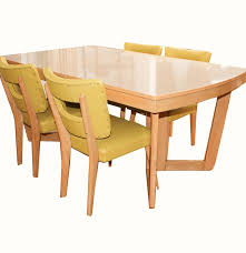 Mid Century Modern Dining Room Table Mid Century Modern Blonde Dining Table And Chairs By Meier