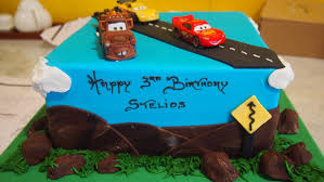 single tier square birthday cake road cars the delicious biscuit