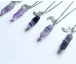 silver purple necklace images Jewels purple moon amnesia necklace pastel star and moon jpg