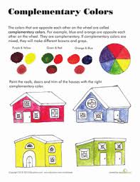 complementary colors complementary colors worksheet education com